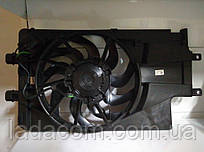 Диффузор,вентилятор охлаждения радиатора с кондиционером ВАЗ 2190, ВАЗ 2192, ВАЗ 2194