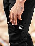 Мужские карго брюки beZet Battle (black), мужские весенние карго штаны, черные карго штаны, фото 4
