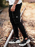 Мужские карго брюки beZet Battle (black), мужские весенние карго штаны, черные карго штаны, фото 2