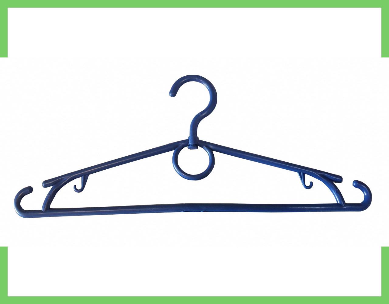 Вешалки плечики пластиковые синие для одежды (кольцо) 39 см Украина