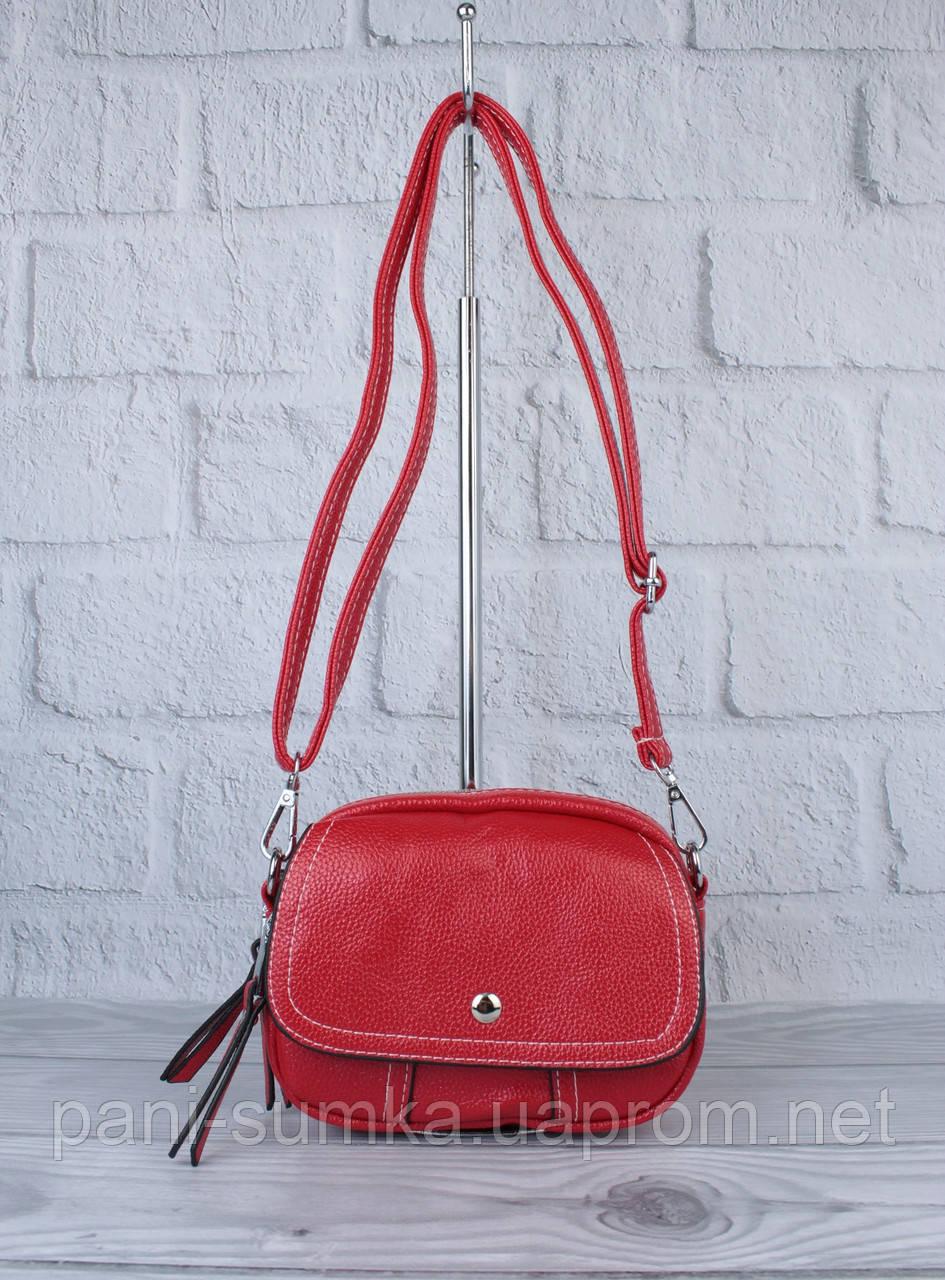 Клатч, сумочка через плече Bl. Balli 1126-803 червона, багато відділів