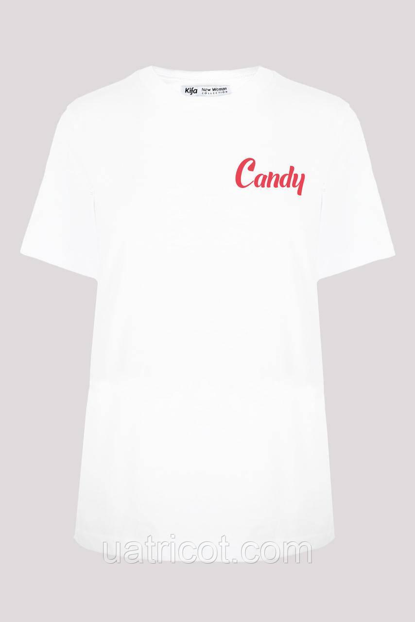 Футболка женская ФЖ-019/13 Candy белая