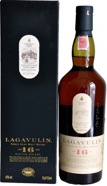 Виски Lagavulin 16 y.o. (Лагавулин 16 лет) 43%, 0,7 литра