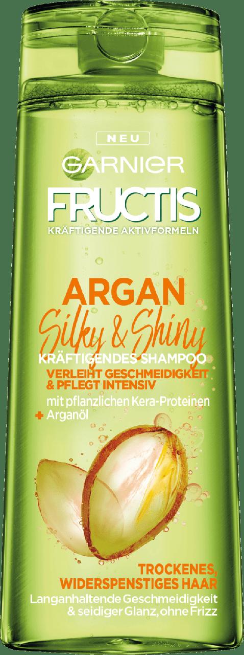 Шампунь для сухих и поврежденных волос GARNIER FRUCTIS Argan Silky & Shiny, 300 мл.