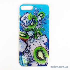 Чохол Silicon Summer Fruit iPhone 8 Plus / 7 Plus kiwifruit