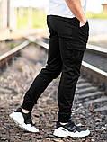 Мужские карго брюки beZet Basic (black), мужские осенние карго штаны, черные карго штаны, фото 5