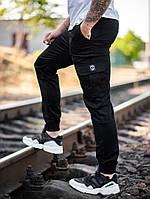 Мужские карго брюки beZet Basic (black), мужские осенние карго штаны, черные карго штаны, фото 1