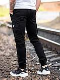 Мужские карго брюки beZet Basic (black), мужские осенние карго штаны, черные карго штаны, фото 2