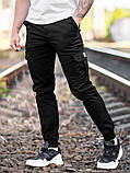 Мужские карго брюки beZet Basic (black), мужские осенние карго штаны, черные карго штаны, фото 4