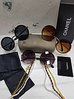Солнцезащитные очки Chanel с цепочкой