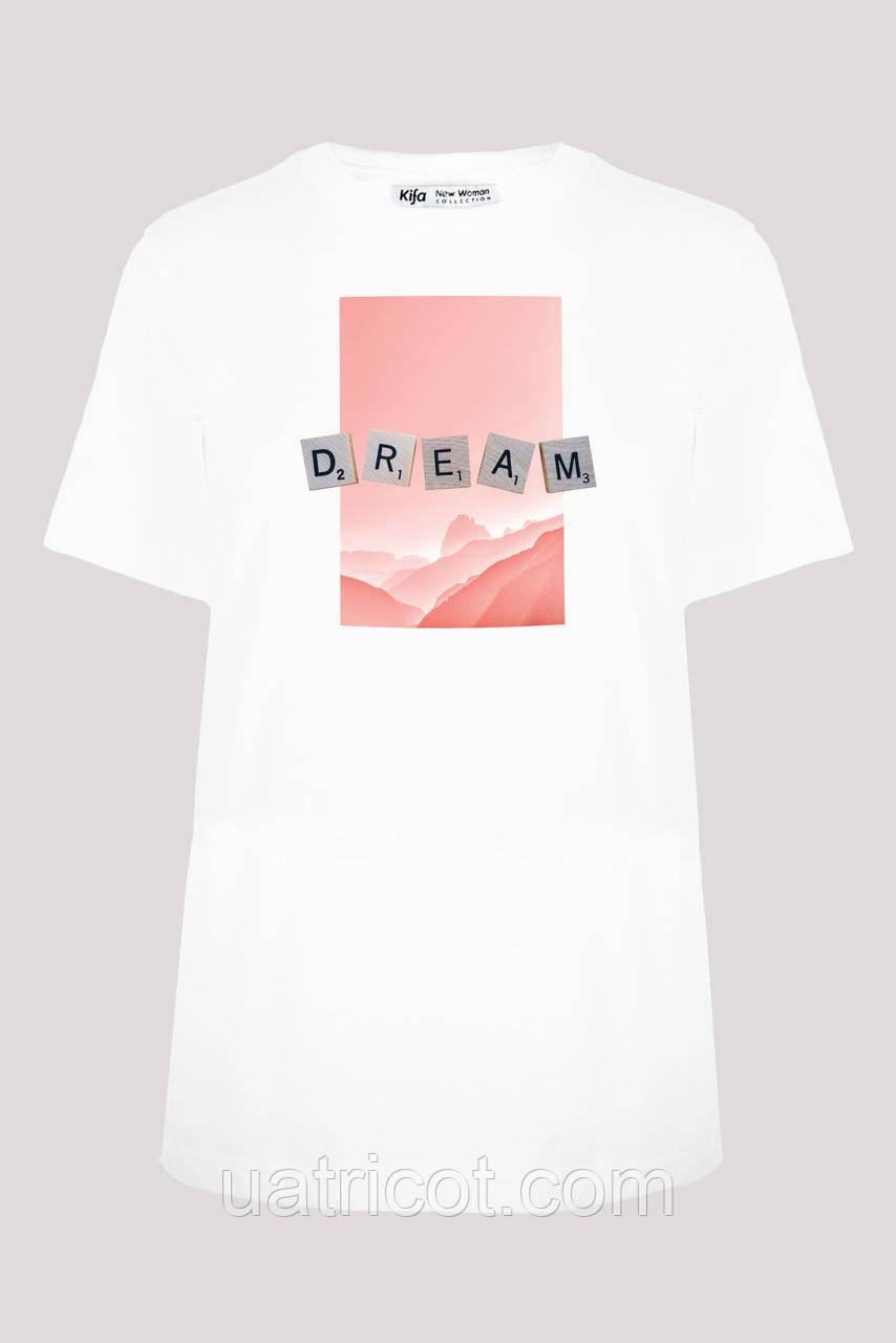 Футболка женская ФЖ-019/13 DREAM белая