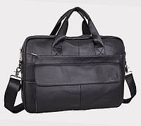 Мужская сумка для ноутбука и документов Италия из натуральной кожи 38x29x12 см