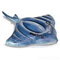 Детский надувной плотик для катания Intex 57550 «Скат», 188*145 см
