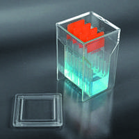 Контейнер для окрашивания 8 предметных стекол, ПМП, с крышкой, по Хеллендалю