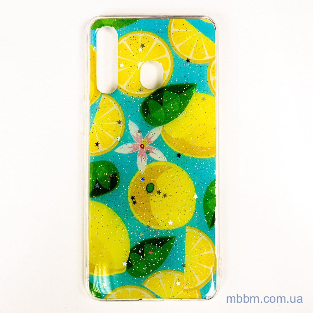 Чехол Silicon Summer Fruit Samsung A20/A30 Lemon