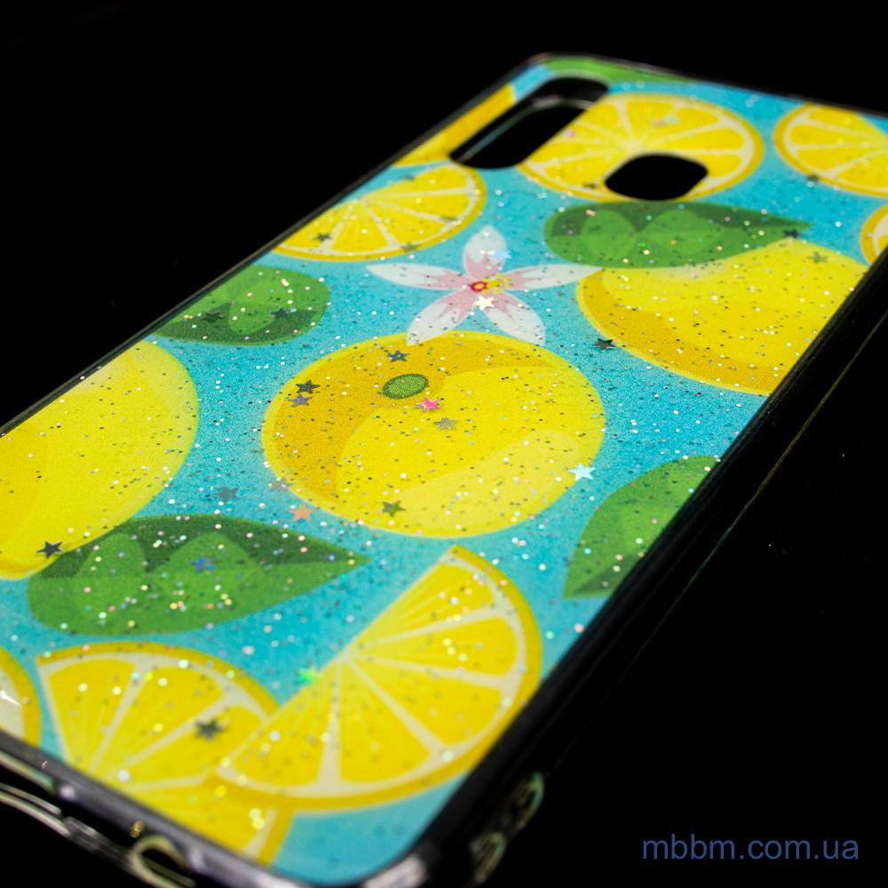 Чехол Silicon Summer Fruit Samsung A20 A30 Lemon