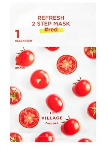 Двухэтапная восстанавливающая маска Village 11 Factory Refresh 2-Step mask (Red)