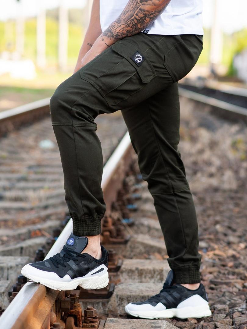 Мужские карго брюки beZet Basic (khaki), мужские осенние карго штаны, карго штаны хаки