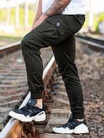Мужские карго брюки beZet Basic (khaki), мужские осенние карго штаны, карго штаны хаки, фото 1