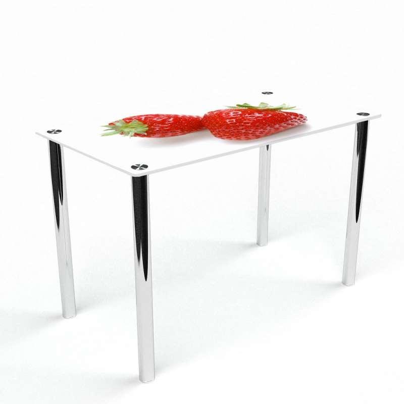 Стол кухонный стеклянный Прямоугольный Red berry 91х61 *Эко (БЦ-стол ТМ)