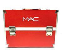 Кейс для косметики алюминиевый Mac (красный), фото 1