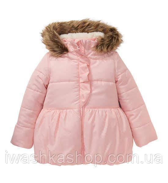 Стильная зимняя куртка на девочку 5 - 6 лет, р. 116, Kiki&Koko / KIK