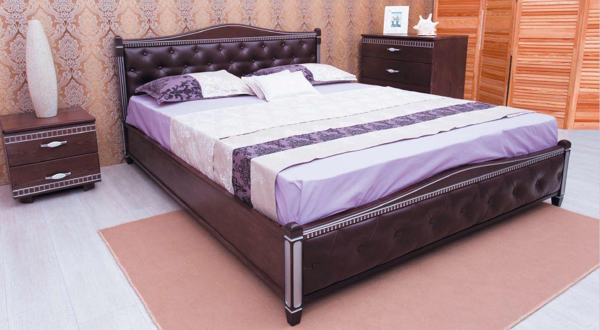 Кровать двуспальная Прованс 1,6 ромб патина серебро