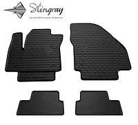 Резиновые коврики Opel Meriva B 2010- Stingray комплект 4 шт черные Опель Мерива B 2010