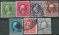США 1910 Sc# 374 - 379, 382