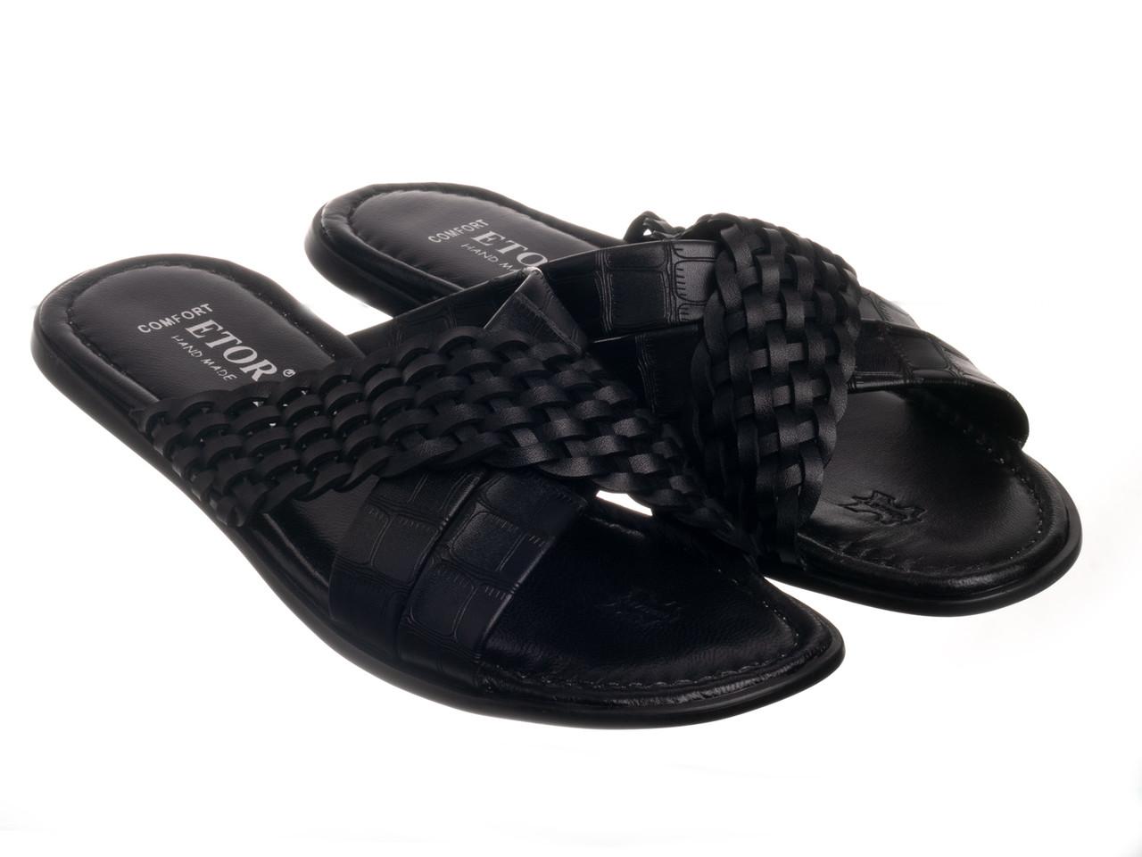 Шлепанцы Etor 844-8901 черные