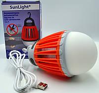 Лампа от комаров и насекомых SUNLIGHT, 6500K USB, ABS+PC Красный