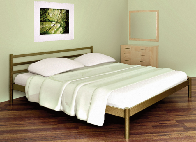 Кровать Метакам Fly-1 ( Флай -1). Металлическая кровать. Метакам