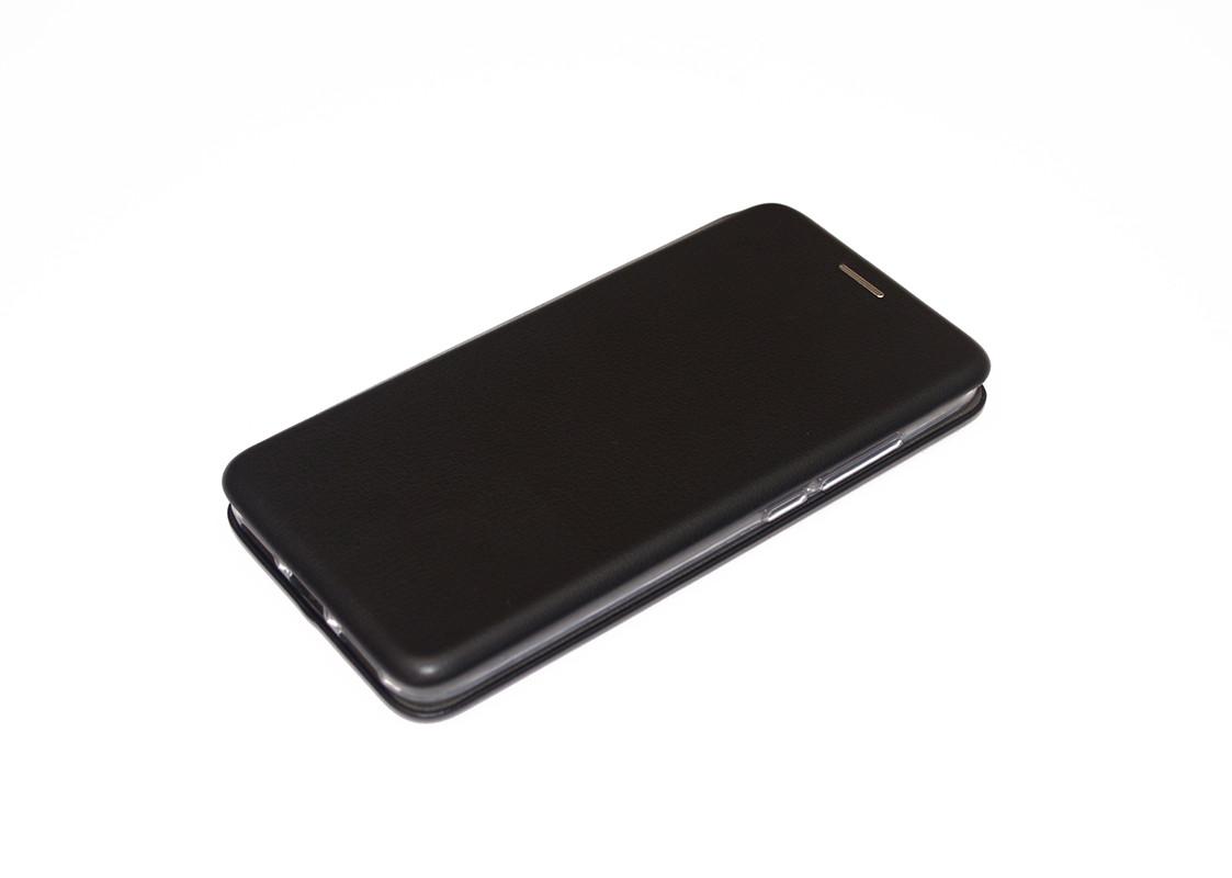 Чехол-книжка для Xiaomi Redmi 7A кожаный Черный