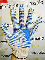 """Перчатки х\б рабочие для строительства универсальные """"Елочка"""". 10 пар\упаковка., фото 1"""
