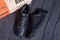Мужские кожаные кеды в стиле Tommy Hilfiger Black