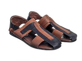 Сандалии Etor 101-3715-626 сине-коричневые