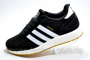Кроссовки унисекс в стиле Adidas Originals Iniki Runner, Black\White (Осень)
