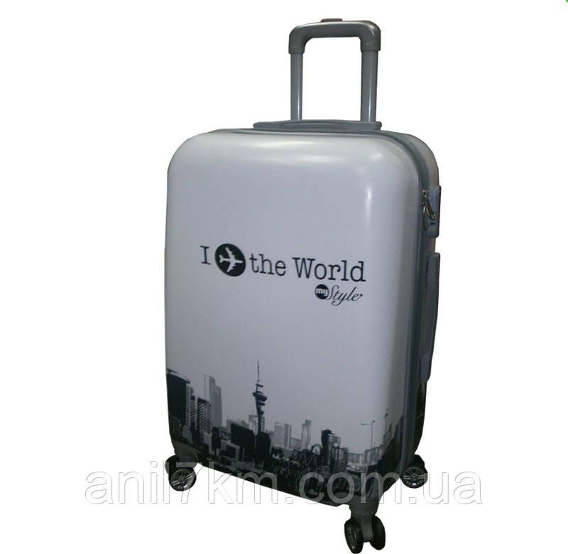 Середній ударостійкий чемодан I the World