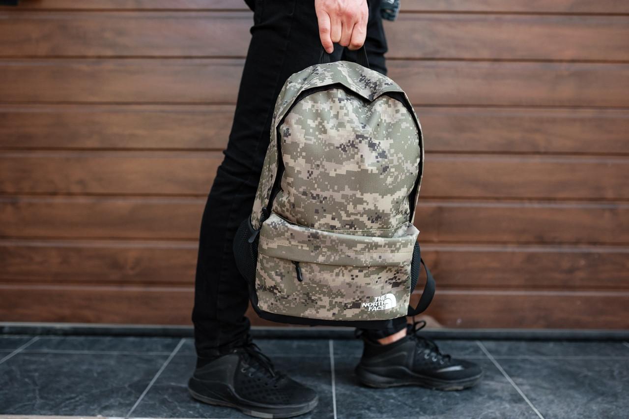 Рюкзак The North Face (camo), городской рюкзак Норз Фейс камуфляжный, камуфляжный рюкзак TNF (Реплика ААА)