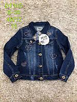 Джинсова куртка для дівчаток S&D 6-16 років