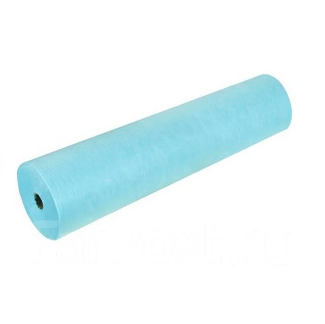 Простыни одноразовые в рулоне 0.6х100 м, 19 г/м2 - Голубой