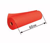 Простыни одноразовые в рулоне 0.6х100 м, 23 г/м2 - Красные