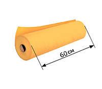 Простыни одноразовые в рулоне 0.6х100 м, 23 г/м2 - Оранжевые