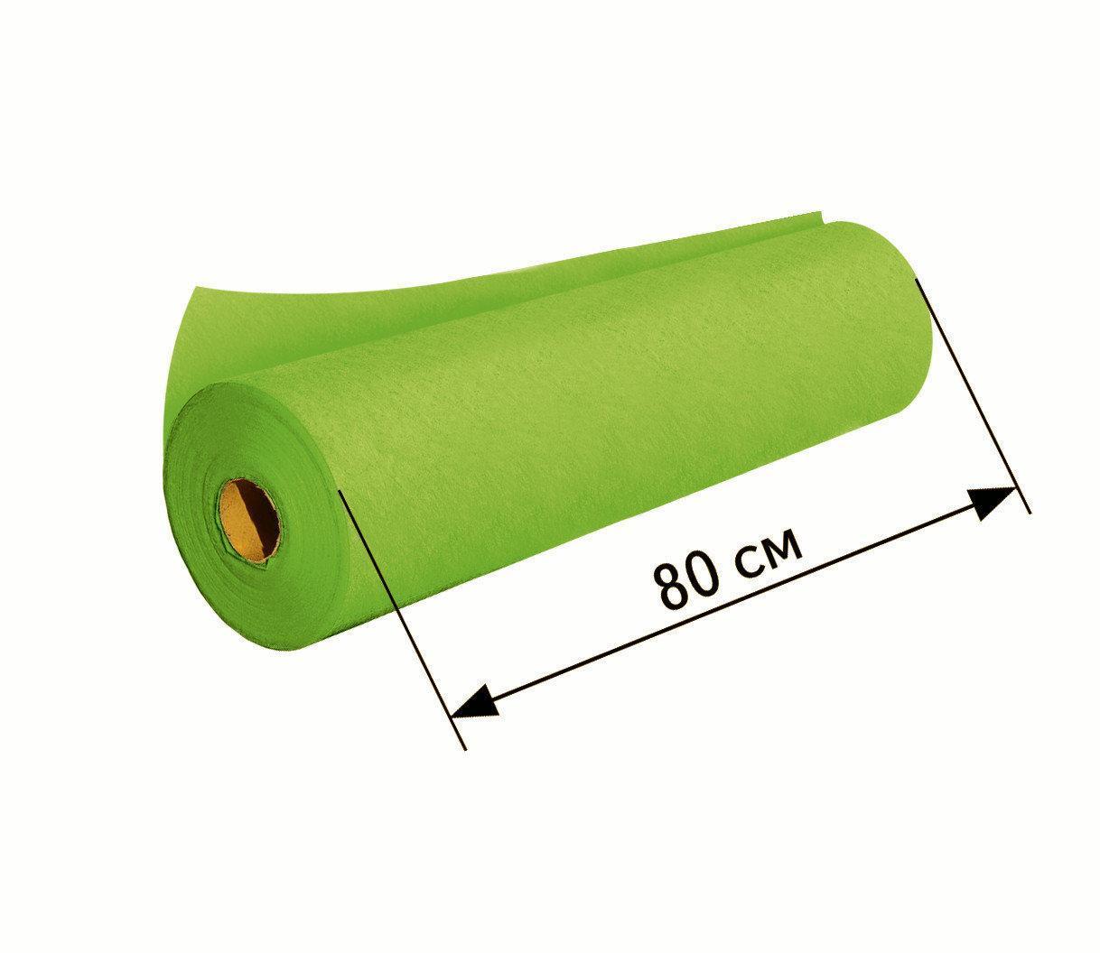 Простыни одноразовые в рулоне 0.8х100 м, 23 г/м2 - Зеленые