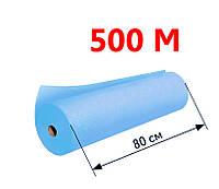 Простыни одноразовые в рулоне 0.8х500 м, 20 г/м2 - Голубой