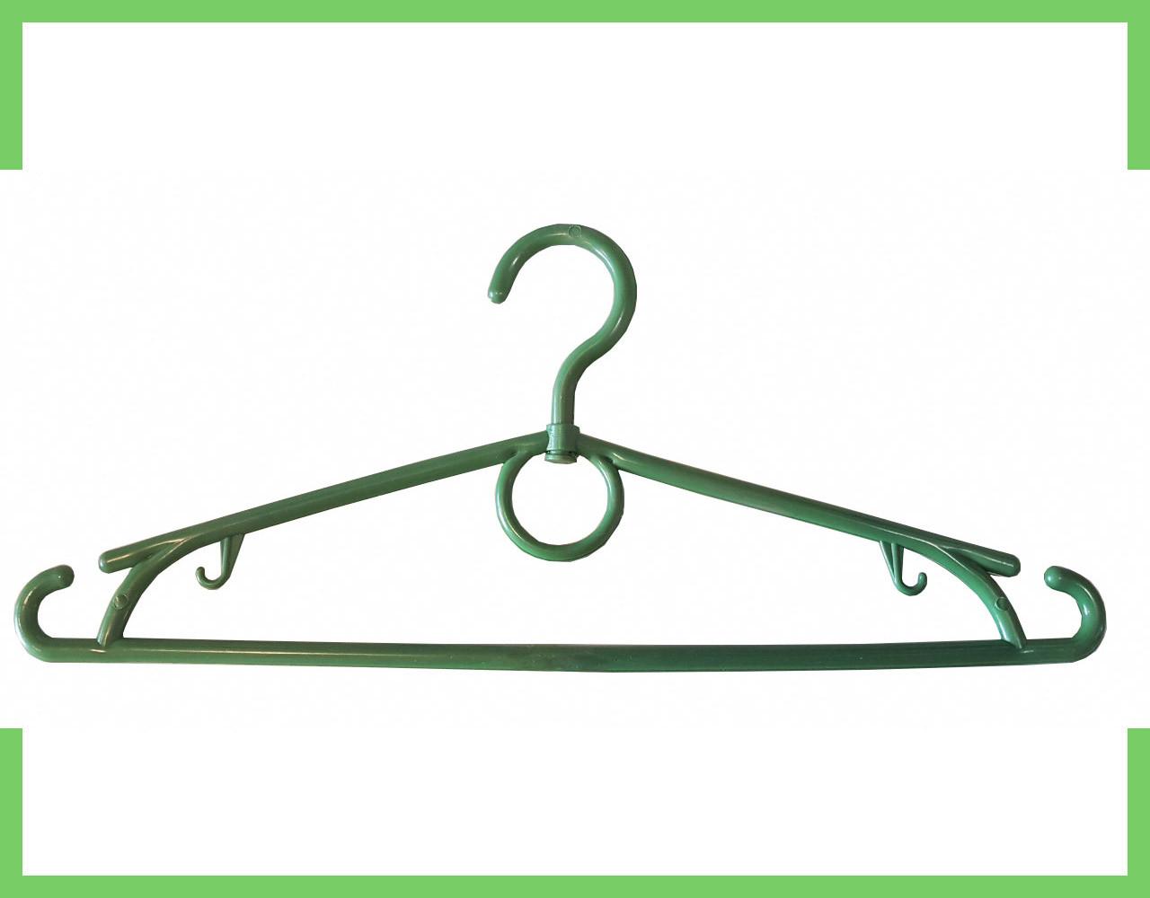 Вешалка плечики кольцо пластмассовые для одежды (зеленая) 39 см Украина