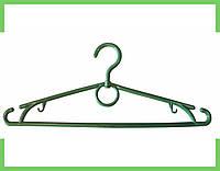 Вешалка плечики кольцо пластмассовые для одежды (зеленая) 39 см Украина, фото 1