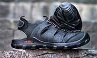 Трекинговые мужские сандалии из нубука черные