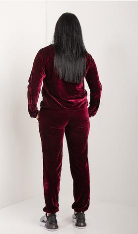 Спортивный велюровый костюм в размере от 44 до 54, фото 2