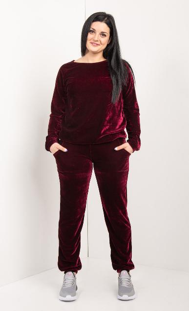 Спортивный велюровый костюм в размере от 44 до 54